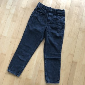 H&M Divided Momjeans Gr 38 schwarz Jeans jeanshose Hose Highwaist