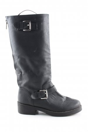 H&M Divided Botas moteras negro look casual