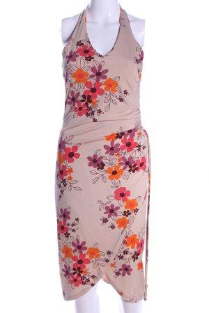 H&M Divided Vestido de cuello Halter estampado floral look casual