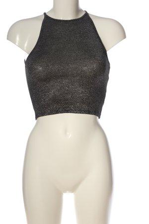 H&M Divided Top senza maniche argento puntinato effetto bagnato