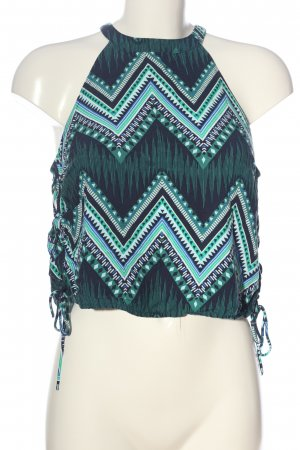 H&M Divided Haltertop groen-turkoois abstract patroon casual uitstraling