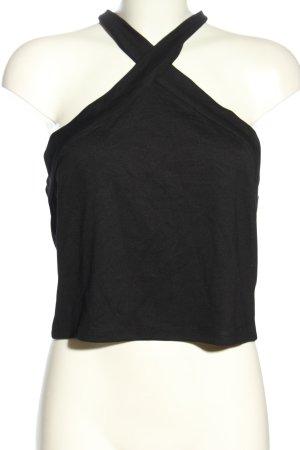 H&M Divided Top estilo halter negro look casual
