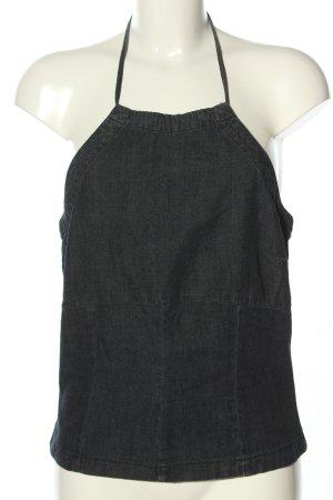 H&M Divided Top estilo halter negro Patrón de tejido look casual