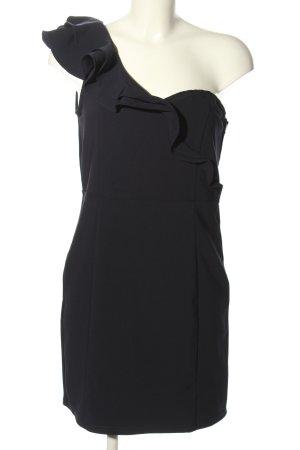 H&M Divided Vestido de un hombro negro elegante