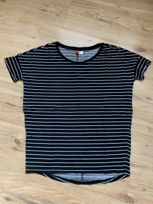 H&M divided oversize Shirt in schwarz mit Streifen - XS