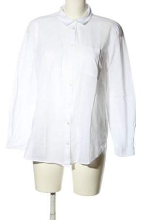 H&M Divided Oversized Bluse weiß Casual-Look
