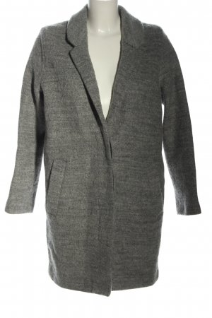 H&M Divided Oversized Coat light grey flecked casual look