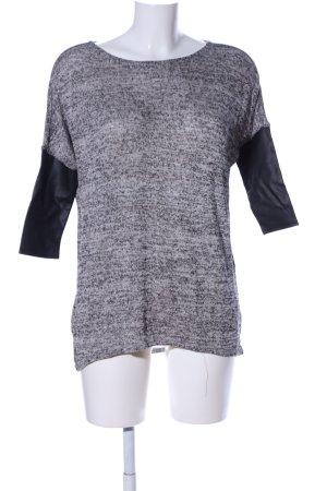 H&M Divided Oversized Pullover hellgrau-schwarz meliert Business-Look