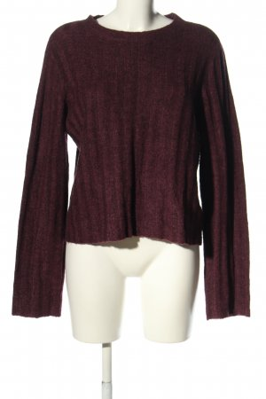 H&M Divided Oversized Pullover lila Casual-Look