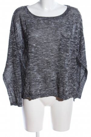 H&M Divided Oversized Pullover hellgrau meliert Casual-Look