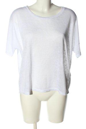 H&M Divided Oversized Shirt weiß meliert Casual-Look