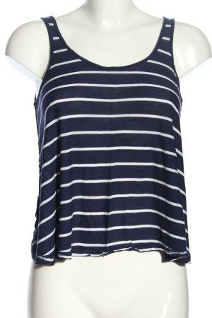 H&M Divided Oversized Shirt blau-weiß Streifenmuster Casual-Look