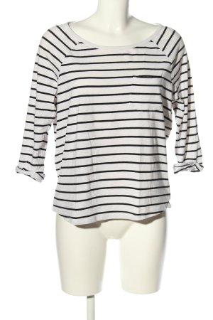 H&M Divided Oversized Shirt weiß-schwarz Streifenmuster Casual-Look
