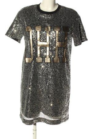 H&M Divided Vestido de lentejuelas color plata brillante