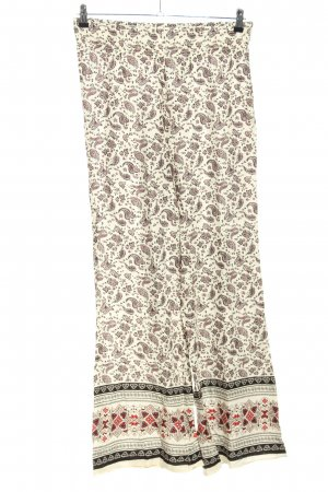 H&M Divided Palazzo Pants cream-brown abstract pattern casual look