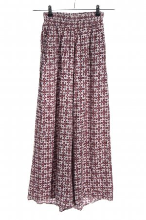 H&M Divided Palazzo Pants red-natural white allover print casual look