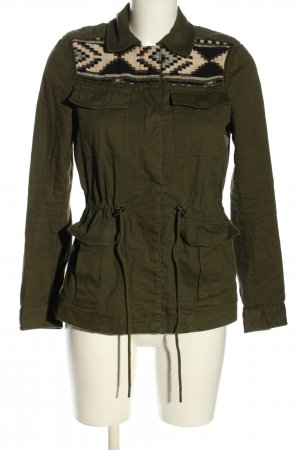 H&M Divided Parka khaki grafisch patroon casual uitstraling