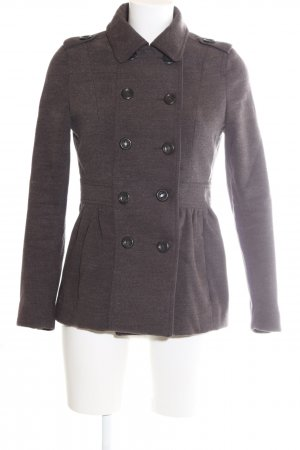 H&M Divided Pea Coat brown flecked casual look