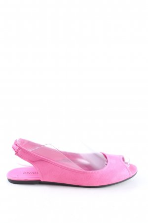 H&M Divided Peep Toe Ballerinas pink casual look