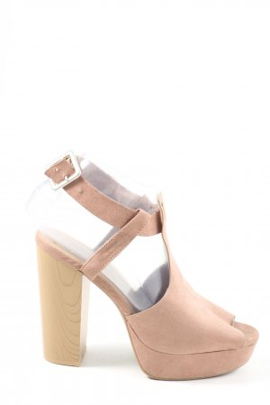 H&M Divided Peep Toe Pumps nude casual uitstraling