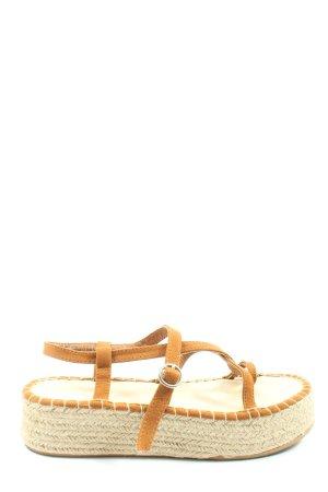 H&M Divided Platform Sandals light orange casual look