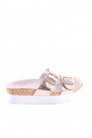 H&M Divided Plateauzool sandalen roze casual uitstraling