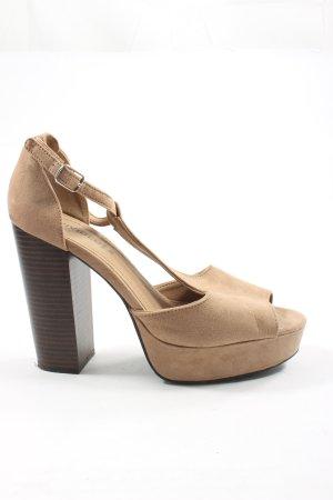 H&M Divided Platform High-Heeled Sandal natural white casual look