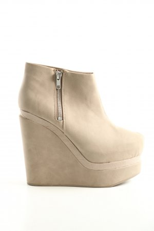 H&M Divided Plateau-Stiefeletten creme Casual-Look
