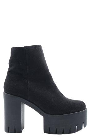 H&M Divided Platform Booties black extravagant style
