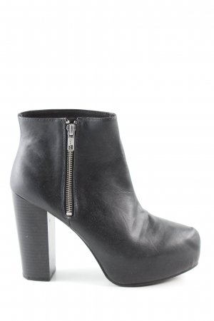 H&M Divided Plateau-Stiefeletten schwarz Business-Look