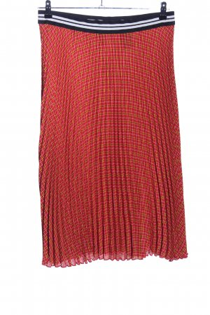 H&M Divided Pleated Skirt red allover print casual look