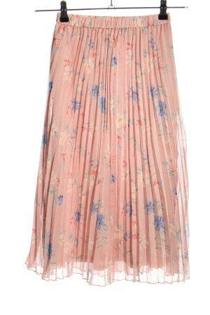 H&M Divided Plisseerock pink-blau Allover-Druck Casual-Look