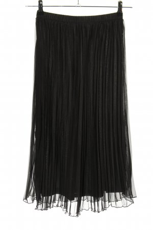 H&M Divided Pleated Skirt black casual look