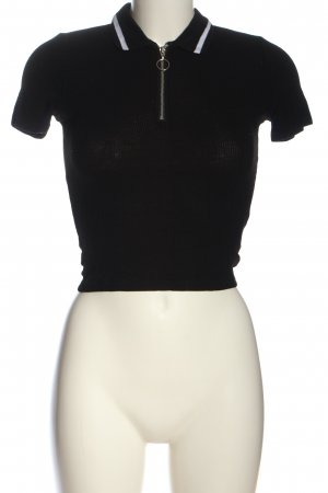 H&M Divided Polo-Shirt schwarz Casual-Look