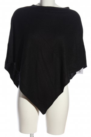 H&M Divided Poncho schwarz Casual-Look
