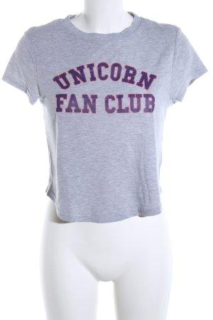 H&M Divided T-shirt imprimé gris clair-bleu moucheté style décontracté