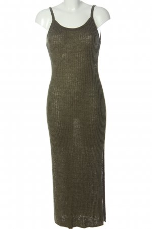H&M Divided Tube Dress khaki striped pattern casual look