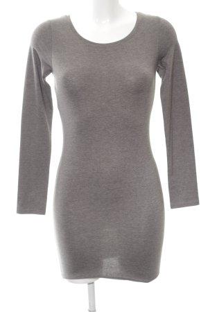 H&M Divided Pulloverkleid hellgrau meliert Casual-Look