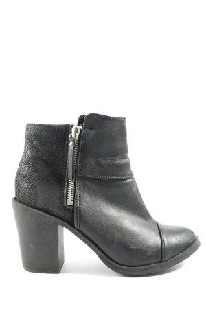 H&M Divided Zipper Booties black casual look