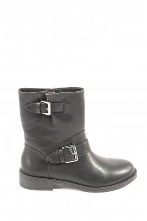 H&M Divided Botas con cremallera negro look casual