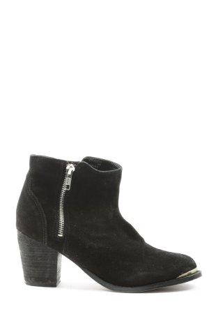 H&M Divided Reißverschluss-Stiefeletten schwarz Casual-Look