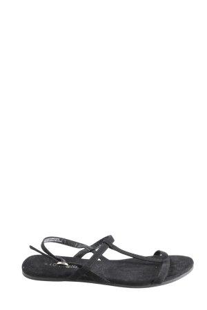 H&M Divided Riemchen-Sandaletten schwarz Casual-Look