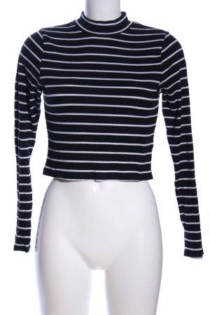 H&M Divided Stripe Shirt black-white allover print casual look