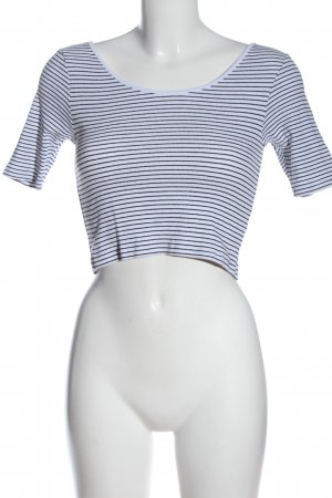 H&M Divided Camisa de rayas blanco-negro look casual