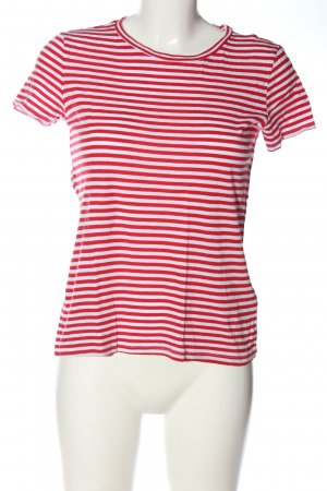 H&M Divided Camisa de rayas blanco-rojo estampado a rayas look casual
