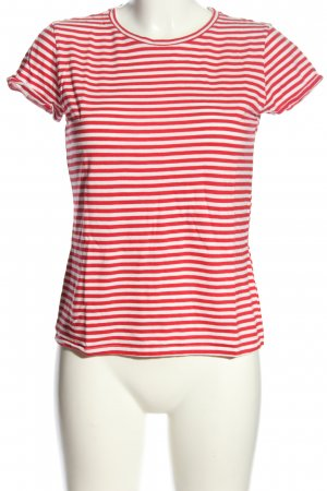 H&M Divided Koszulka w paski czerwony-biały Na całej powierzchni
