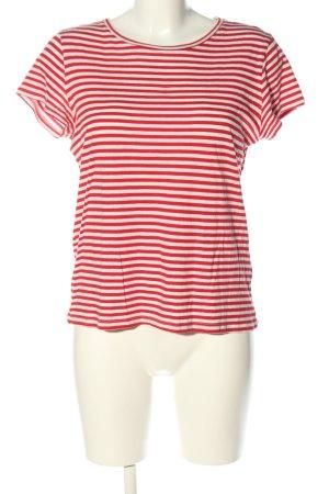 H&M Divided Maglietta a righe rosso-bianco sporco motivo a righe stile casual