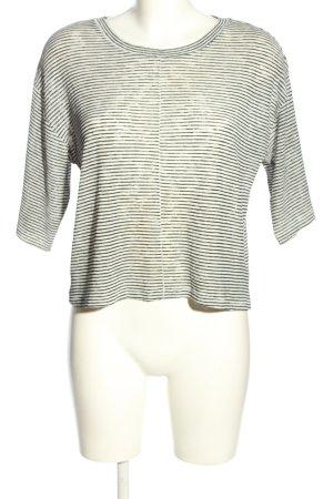 H&M Divided Gestreept shirt wolwit-zwart gestreept patroon casual uitstraling