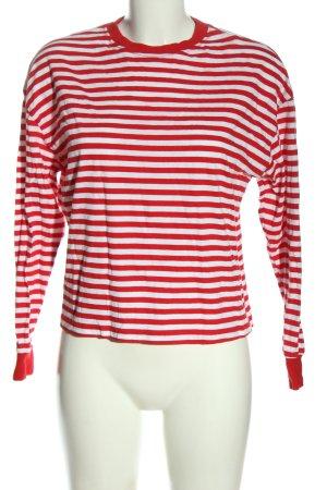 H&M Divided Camisa de rayas rojo-blanco estampado a rayas look casual