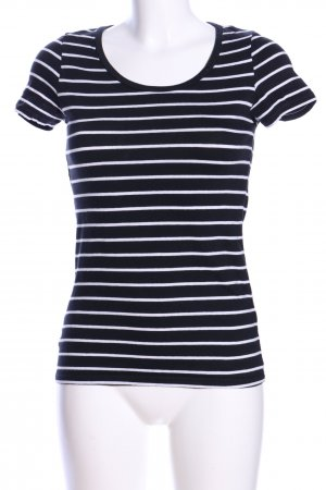 H&M Divided Ringelshirt schwarz-weiß Streifenmuster Casual-Look
